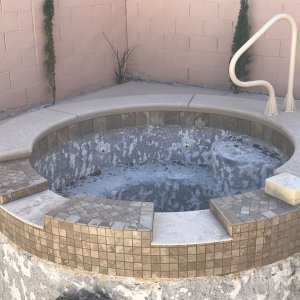 Spa overflow into pool