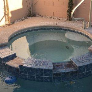Old pool tile