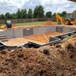 Pool build in Hope