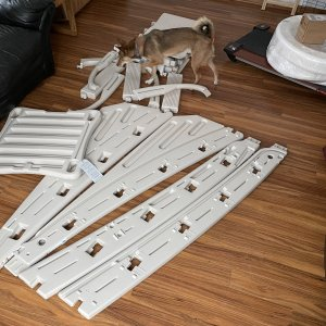 Pile of Ladder Parts