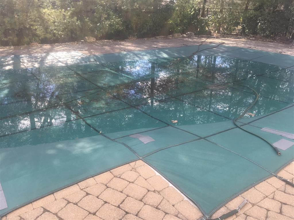Pool Cover with patches